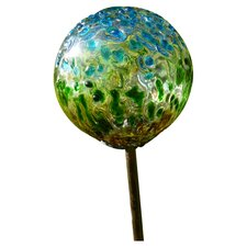 Recycled Glass Solar Garden Stake Light