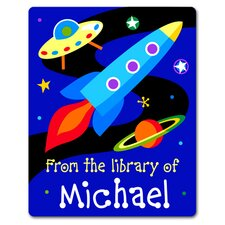 <strong>Olive Kids</strong> Out of This World Personalized Kids Book Plate (Set of 18)