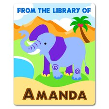 Wild Animals Personalized Kids Book Plate