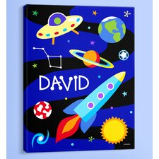 Out of This World Personalized Canvas Art