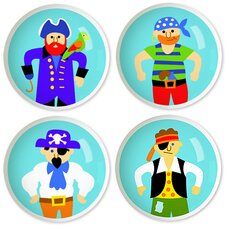 Pirates Round Knob (Set of 4)