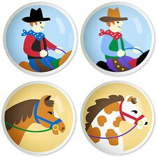 Ride'Em Round Knob (Set of 4)