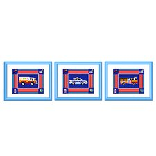 Heroes Framed Print (Set of 3)