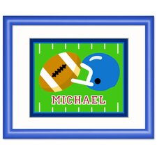 Game On Football Personalized Framed Art