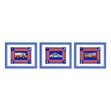 Heroes Wood Framed Print (Set of 3)