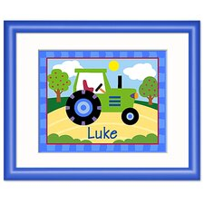 Trains, Planes and Trucks Personalized Tractor Framed Art