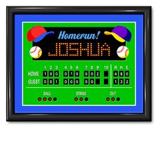 Game On Baseball Personalized Framed Art