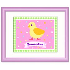 Country Baby Chick Personalized Girl Framed Art