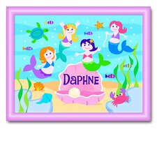 <strong>Olive Kids</strong> Mermaids Large Personalized Print