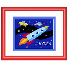 Out of This World Personalized Print with Red Frame