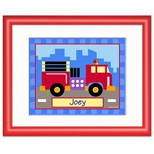 Trains, Planes and Trucks Truck Red Personalized Print