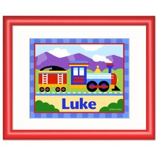 Train Personalized Print with Red Frame