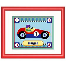 Vroom Personalized Print with Red Frame
