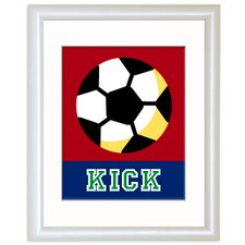 Game On Soccer Personalized Framed Art