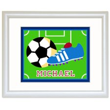 Game On Personalized Soccer Framed Art
