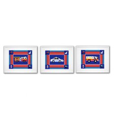 Heroes Print with White Frame (Set of 3)
