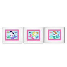 3 Piece Mermaids Framed Art Set