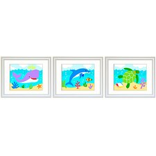 3 Piece Ocean Framed Art Set