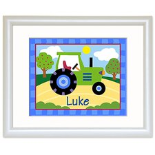 Trains, Planes and Trucks Personalized Tractor Print