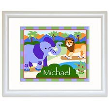 Wild Animals Personalized Print