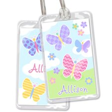 Butterfly Garden Personalized Name Tag (Set of 2)