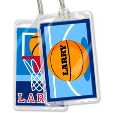 Basketball Personalized Name Tag (Set of 2)