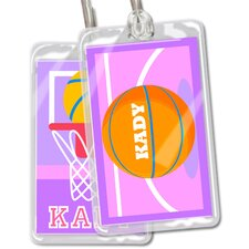 Basketball Girls Personalized Name Tag (Set of 2)