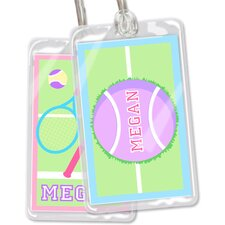 Tennis Personalized Name Tag (Set of 2)