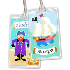 Pirates Personalized Name Tag (Set of 2)