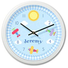 Up and Away Personalized Clock with White Case