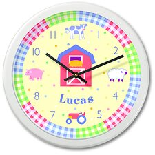 "<strong>Olive Kids</strong> Country Baby 12"" Personalized Wall Clock"