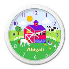 "<strong>Olive Kids</strong> Country Farm 12"" Personalized Wall Clock"
