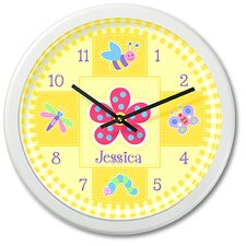 "Flower Land 12"" Personalized Wall Clock"