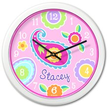 "<strong>Olive Kids</strong> Paisley Dreams 12"" Personalized Wall Clock"