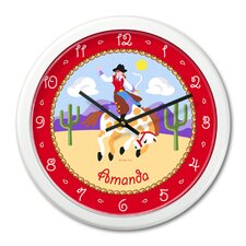 "<strong>Olive Kids</strong> Ride 'Em Girls 12"" Personalized Wall Clock"