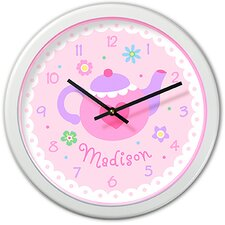 "Tea Party 12"" Personalized Wall Clock"