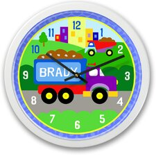 Under Construction Truck Personalized Clock