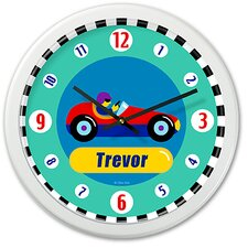 "Vroom 12"" Personalized Wall Clock"