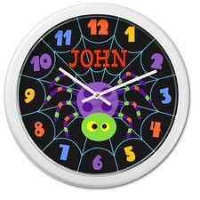 Halloween Spider Personalized Clock with White Case