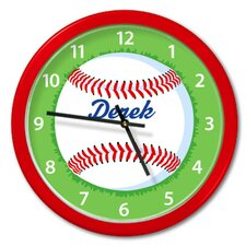"Baseball 12"" Personalized Wall Clock"