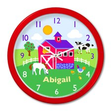 """Country Farm 12"""" Personalized Wall Clock"""