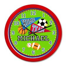 "<strong>Olive Kids</strong> Game On 12"" Personalized Wall Clock"
