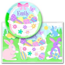 <strong>Olive Kids</strong> Easter Girls Personalized Meal Time Plate Set