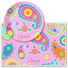 Paisley Personalized Meal Time Plate Set