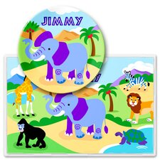 Wild Animals Personalized Meal Time Plate Set
