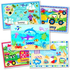 <strong>Olive Kids</strong> Boys  Five Pack Summer Fun Personalized Placemat