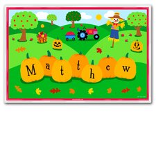 Fall Season Personalized Placemat