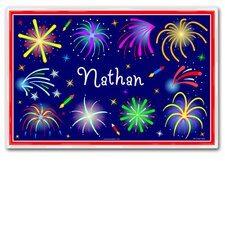 Fourth of July Fireworks Personalized Placemat
