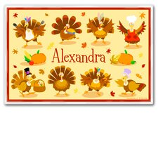 Thanksgiving Turkey Personalized Placemat