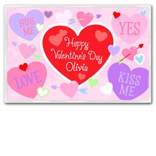 Valentine's Day Personalized Placemat